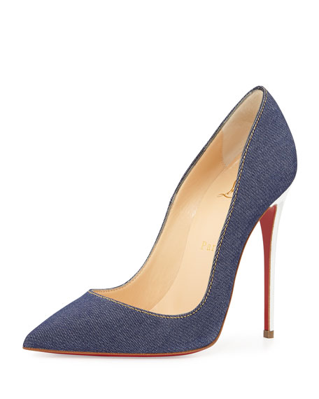 So Kate Denim Red Sole Pump