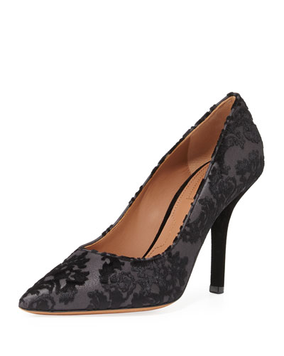 Velvet Devoré 100mm Pump, Black