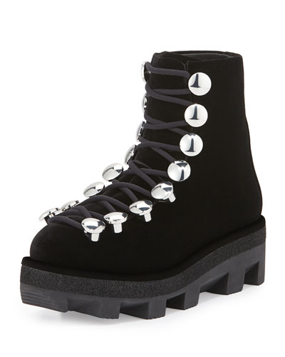 Sam Lace-Up Hook Platform Bootie