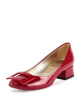 Belle de Nuit Rubber-Sole Pump, Red