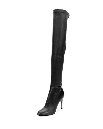 Toni Stretch-Napa Over-the-Knee Boot, Black