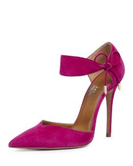 Candela High-Heel Suede d'Orsay Sandal, Orchid