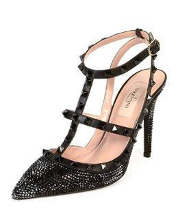 Camounoir Rockstud Crystal Sandal