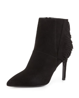 Fringed Suede Ankle Boot