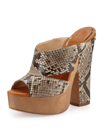 Latoya Python Clog Sandal, Natural/Caramel
