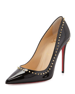 Anjalina Spike Patent Red Sole Pump