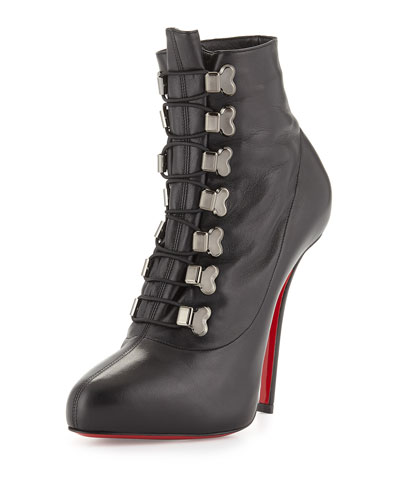 Troopista Red Sole Ankle Boot, Black