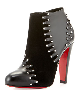Volvotico Red Sole Bootie, Black
