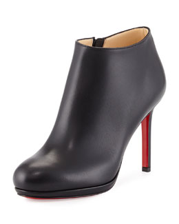 Bella Top Leather Red Sole Bootie