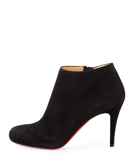 best website f55d7 07845 Belle Round-Toe Suede Red Sole Bootie