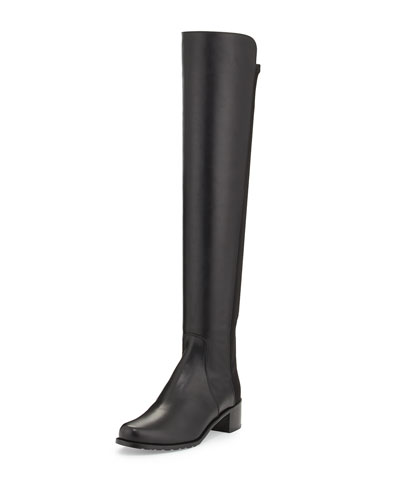 Reverve Over-the-Knee Leather Boot, Black