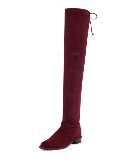 62a2cb81341 Stuart Weitzman Lowland Stretch-Suede Over-the-Knee Boot