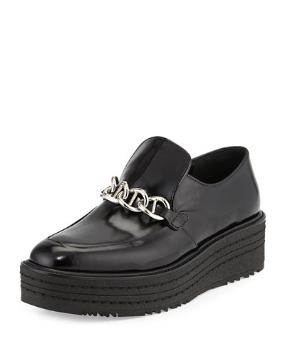 Polished Leather Creeper, Black (Nero)