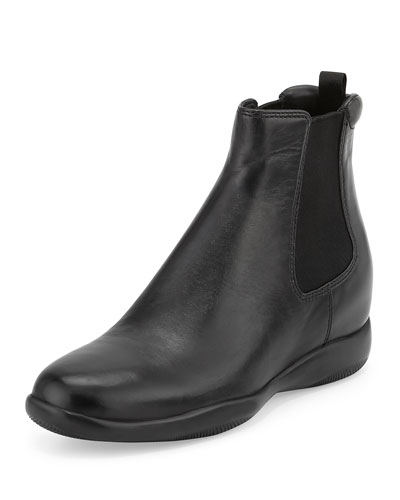 Napa Leather Chelsea Boot, Black (Nero)