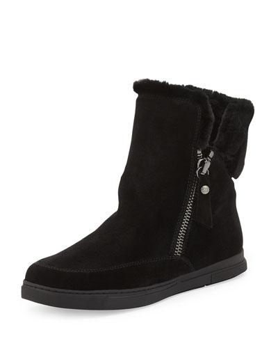 Furgie Faux-Fur Zip Boot, Black