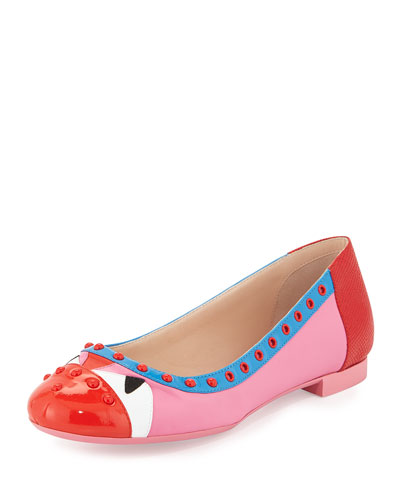 Bug Eyes Studded Leather Ballet Flat