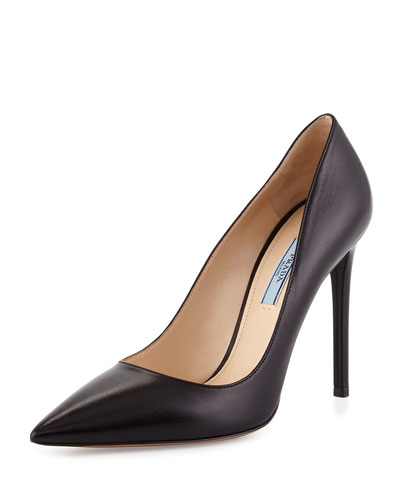Capretto Pointed-Toe Pump, Black