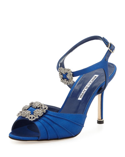 Topos Crystal Buckle Evening Sandal