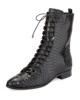 Coro Python Lace-Up Boot, Black