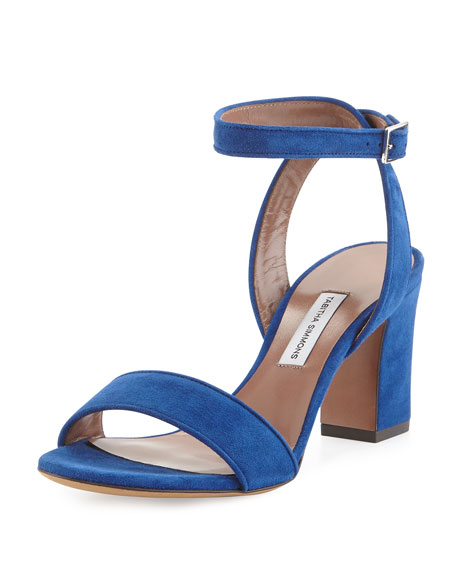 Tabitha Simmons Leticia Leather Block-Heel Sandals