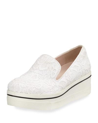 Binx Lace Platform Sneaker, White