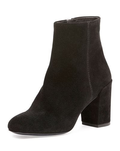Hana Suede Ankle Boot, Black