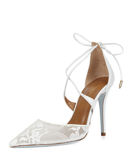 Matilde Bridal d'Orsay Pump, White