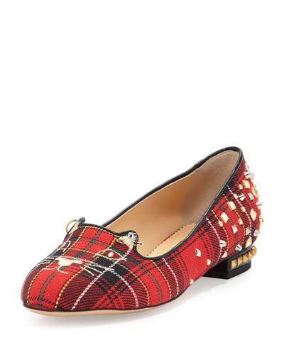 Sex Pistols Kitty Unplugged Plaid Loafer, Tartan