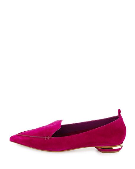 Nicholas Kirkwood Purple Suede Beya Loafers bI2l9S4
