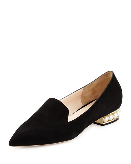 Casati Pearly Suede Loafer, Black