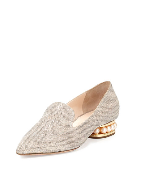 Casati Pearly Metallic Loafer, Champagne