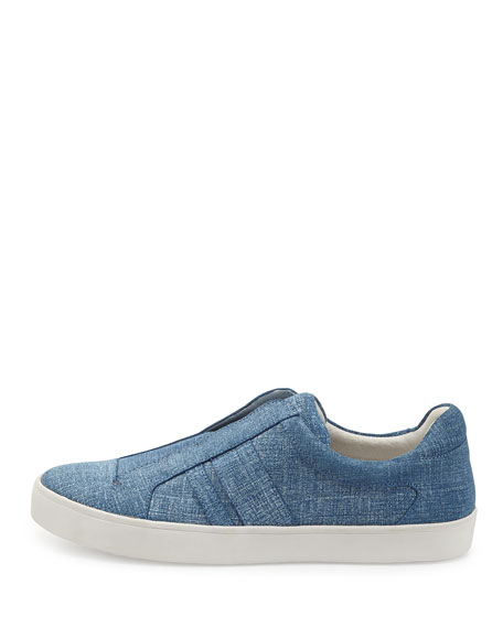Laurel Paneled Denim Skate Shoe, Blue