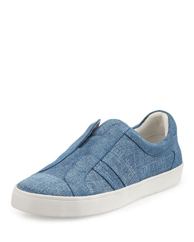 Laurel Paneled Denim Skate Shoe, Blue