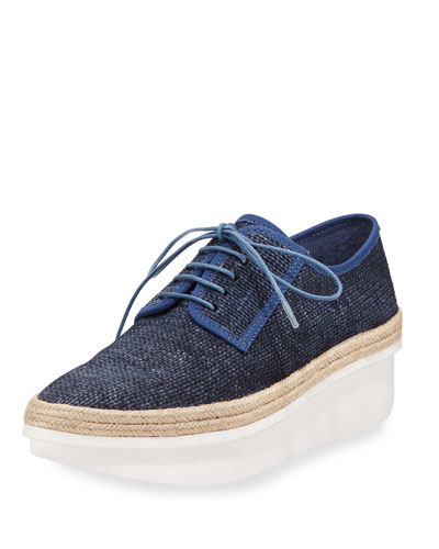 Gordon Too Denim Platform Espadrille Sneaker, Indigo