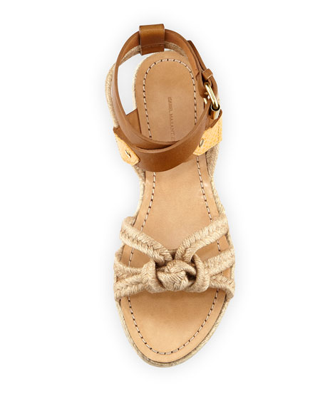 Camila Flat Twisted Rope Flat Sandal, Natural