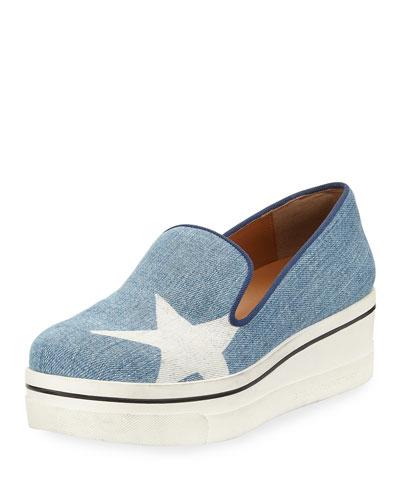 Binx Denim Star Slip-On Sneaker