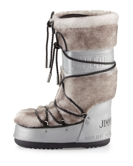96970f506dd Jimmy Choo MB Classic Lace-Front Shearling Moon Boot®