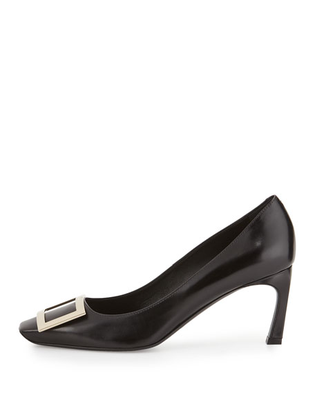 Belle Vivier Trompette Leather 70mm Pump, Black