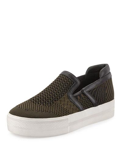 Jeday Knit Slip-On Sneaker, Army/Black