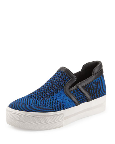 Jeday Knit Slip-On Sneaker, Blue/Black