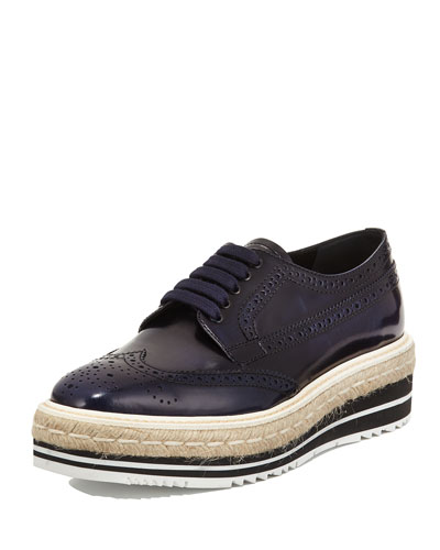 Spazzolato Mircosole Lace-Up, Navy