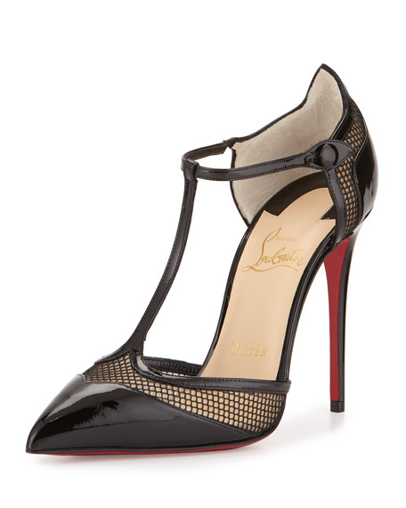 bd8d5d70032f Christian Louboutin Mrs. Early T-Strap Red Sole Pump