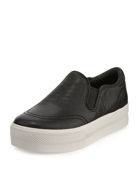 Jungle Leather Platform Sneaker, Black