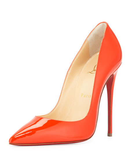 So Kate Patent 120mm Red Sole Pump, Cappucine