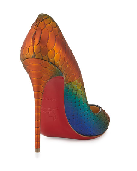So Kate Parrot Python Red Sole Pump