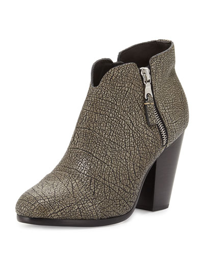 Margot Leather Ankle Boot, Iron