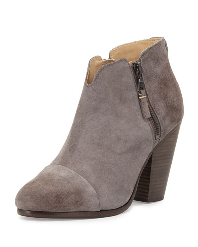 Margot Suede Ankle Boot, Granite