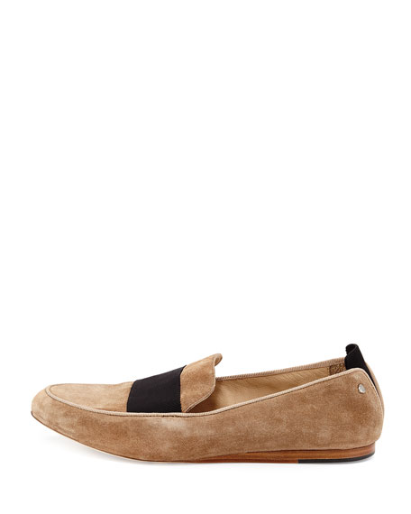 Sia Suede Colorblock Loafer, Camel