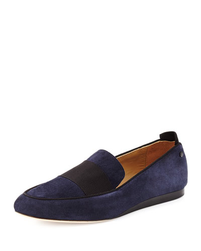 Sia Suede Colorblock Loafer, Navy