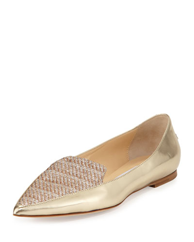 Guild Metallic Leather Loafer, Gold/Champagne